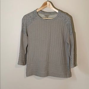 Lucky Brand grey pullover with knit detailing